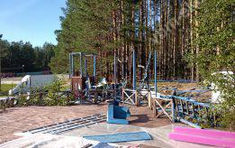 Демонтаж металлоконструкций разбор аквапарка